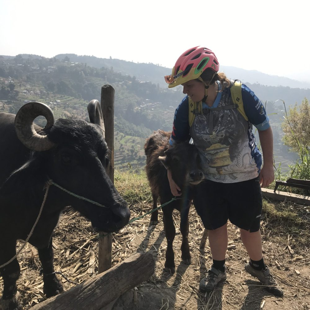 Jenny Caunt- Trip Organizer and Ride Leader in Nepal
