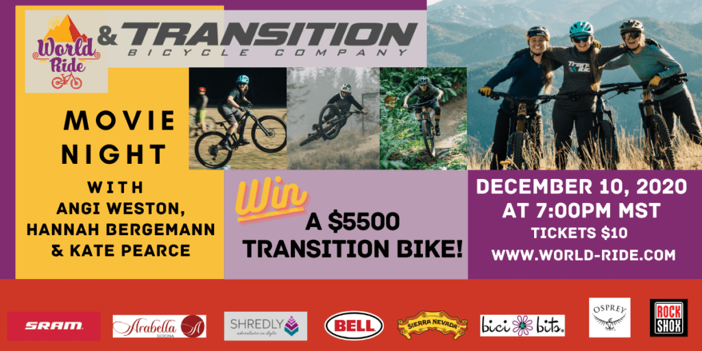 This is a fundraiser for World Ride, a 501(c)3 non profit that works to empower women globally through mountain biking. (1)
